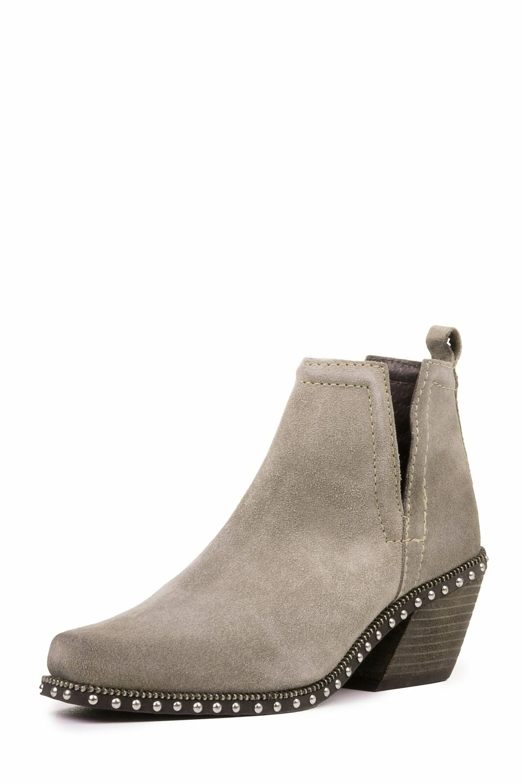Jeffrey Campbell TUMARI Cutout Ankle Boot, Taupe Oiled Suede (10)