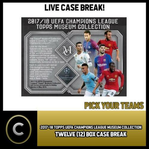 PICK TEAM 2017//18 TOPPS UEFA CHAMPIONS MUSEUM COLLECTION 12 BOX BREAK #S007