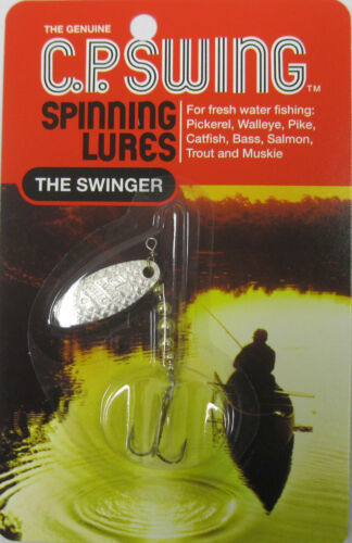 THE GENUINE C.P SWING SPINNING LURES THE SWINGER SZ-4 SILVER P-4-S 1//8 OZ.