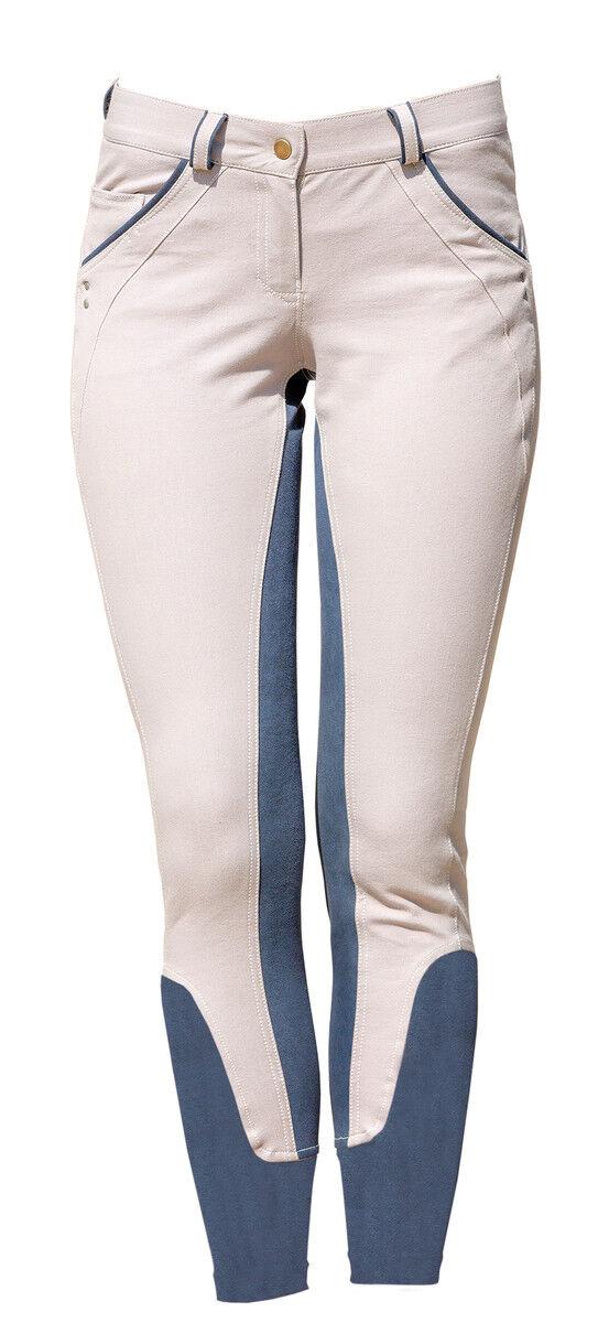 Horseware Ireland Denim Equitación Pantalones De Montar De Moda Completo Seat 1.5  Pretina Ancha