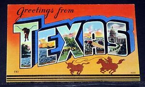 Old postcard large letters greetings from texas tx1 ebay image is loading old postcard large letters greetings from texas tx1 m4hsunfo