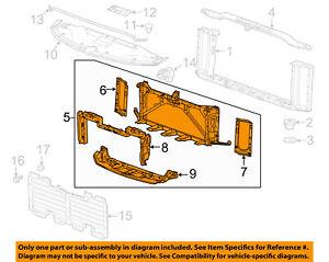 details about gmc gm oem 15 16 yukon radiator core support mount panel 23266741 broken motor mounts gmc yukon engine diagram wiring diagram