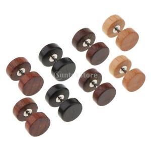 b97692acb 4 Pairs Wood Wooden Women Mens Stud Earrings Ear Plugs Piercings ...