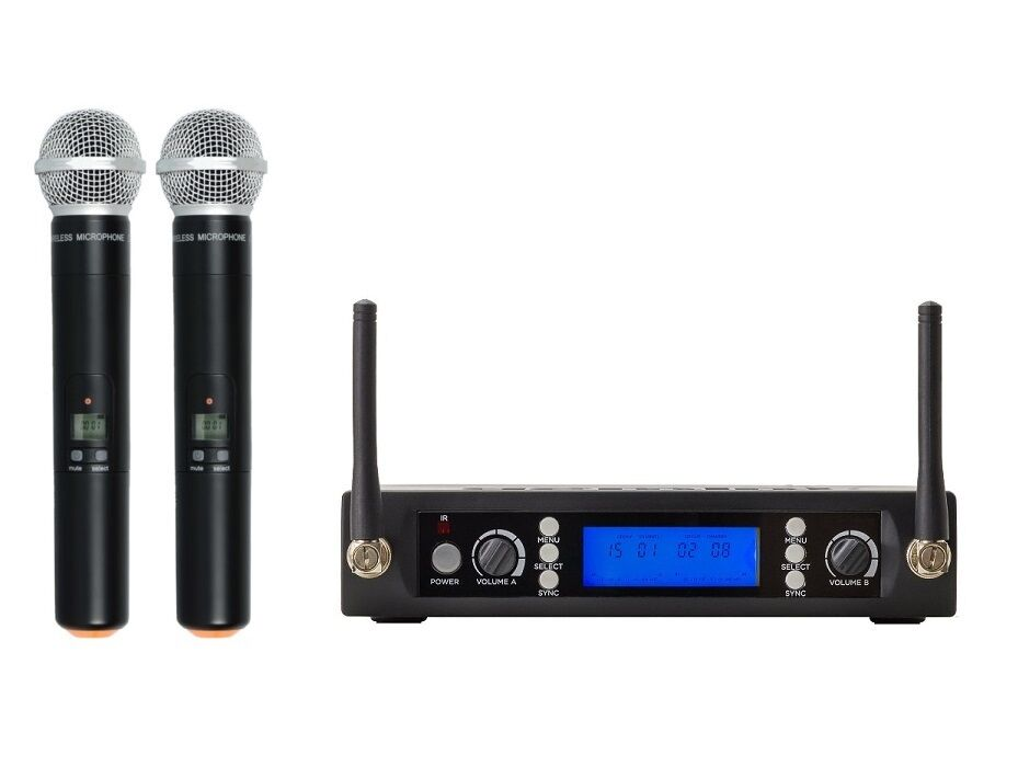 Wireless Microphone Vocal Professional Microphone UHF Dual Cordless Microphone