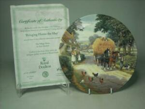 Royal Doulton BRINGING HOME THE HAY Plate + COA The Village Shires Sean Mitchell