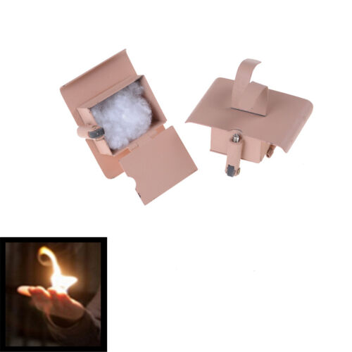 2Pcs Conjure Up Fire Flame Hand Gimmicks Close Up Stage Magic Trick BL