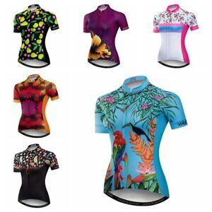 0e8e3e8739 La imagen se está cargando Camiseta-de-ciclismo-para-mujer-Jersey-de-manga-