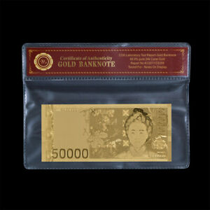 WR-Korea-South-50000-Won-Gold-Banknote-Paper-Money-Collection-In-COA-Sleeve