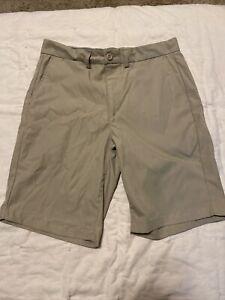George Shorts Mens Size 30 Khaki Button Front Pockets