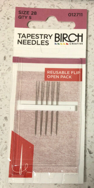 Birch Tapestry Needles pack of 5 - Size 28