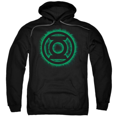 Green Lantern GREEN FLAME LOGO Licensed Adult Sweatshirt Hoodie