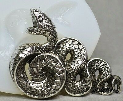 fimo resin food use Snake mold polymer clay wax SNAKES- silicone mould