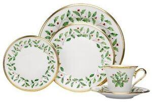 Stock photo  sc 1 st  eBay & Lenox Holiday Dinnerware Gold Band 5pc Place Setting   eBay