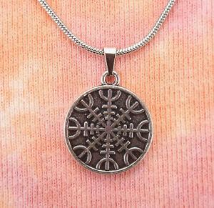Helm of Awe Necklace ~ Viking Amulet ~ Norse Pagan Jewelry ~ \u00c6gishj\u00e1lmr ~ Viking Pendant ~ Icelandic Stave ~ Viking Amulet