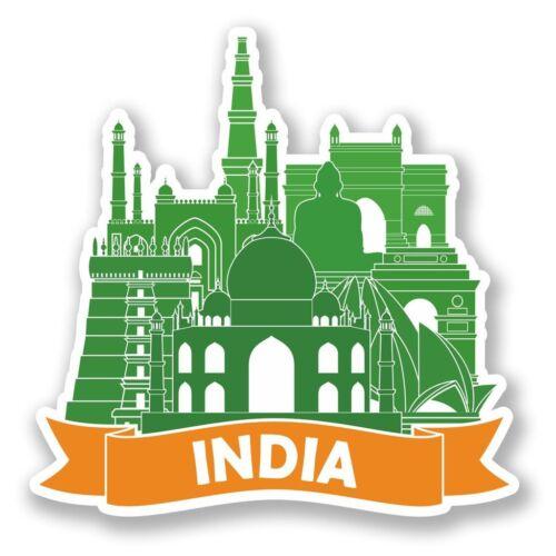 2 x India Luggage Travel Vinyl Sticker Travel #6487