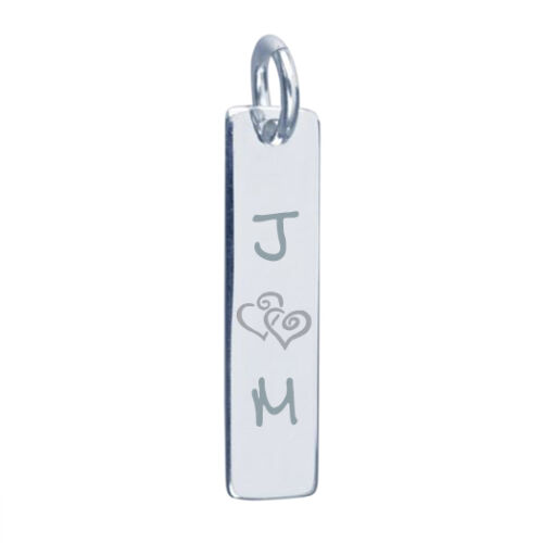 Sterling Silver Pendant and Necklace Engraved Father/'s day gift