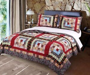 Colorado Lodge Full Queen Quilt Set Rustic Cabin