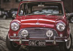 Image Is Loading Photograph Transport Vintage Mini Cooper Red Clic Car
