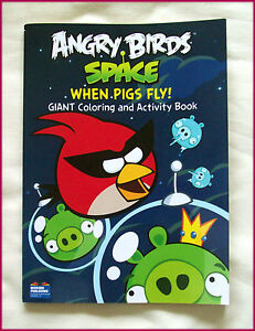 Image Is Loading ANGRY BIRDS SPACE JUMBO 96p ACTIVITY Amp COLOURING