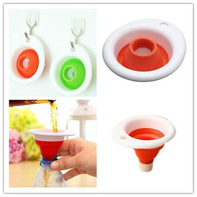 Silicone Gel Practical Collapsible Foldable Funnel Hopper Kitchen Tool OYACNEW T