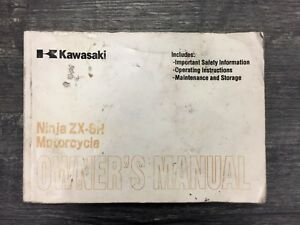 2001 Kawasaki Zx600 J2 Zx6r Owners Manual Ebay