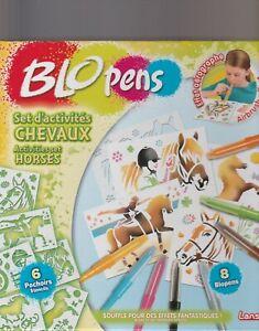 blopens-set-d-039-activites-chevaux-6-pochoirs-8-blopens-neuf-lansay-4-ans-et-plus
