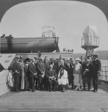 Keystone Stereoview President Harding & Party Aboard the Henderson: AK Trip 1923