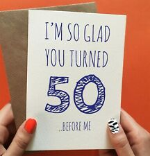 Cheeky Zebra 50th Birthday Card Husband Funny For Dad Brother Male Greetings For Sale Online Ebay