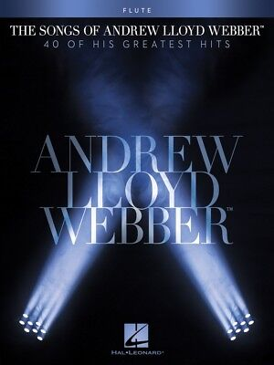 Instruction Books, Cds & Video Musical Instruments & Gear Trustful The Songs Of Andrew Lloyd Webber Flute Instrumental Solo Book New 000102646 With Traditional Methods