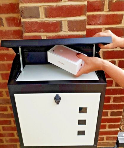 LOCKABLE LETTER BOX  WEATHERPROOF STYLISH PARCELBOX LARGE SECURE PARCEL