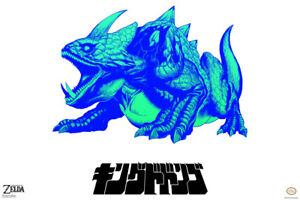 Legend-of-Zelda-King-Dodongo-White-Graffiti-Pop-Art-Poster-12x18-Inch