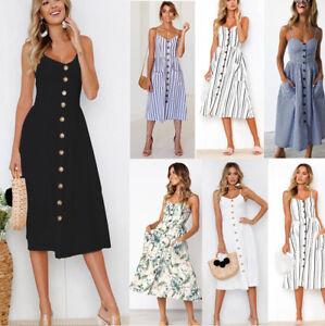Sommer Damen Kleid Schulterfrei Blumen Midi Party Maxi Strandkleid Abendkleid Ebay