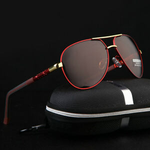 Aluminium-HD-Men-039-s-Polarized-Photochromic-Sunglasses-Pilot-Driving-Sun-Glasses