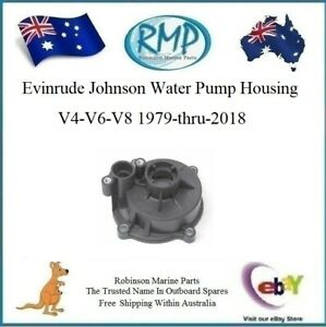Details about Brand New Evinrude Johnson Water Pump Housing V4-V6-V8  1979-thru-2018 # R 435990