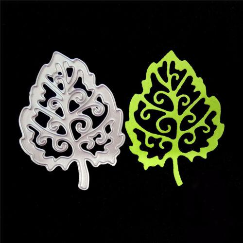 Leaves Metal Cutting Dies Stencil For DIY Scrapbooking Album//photo Cards Deco ES