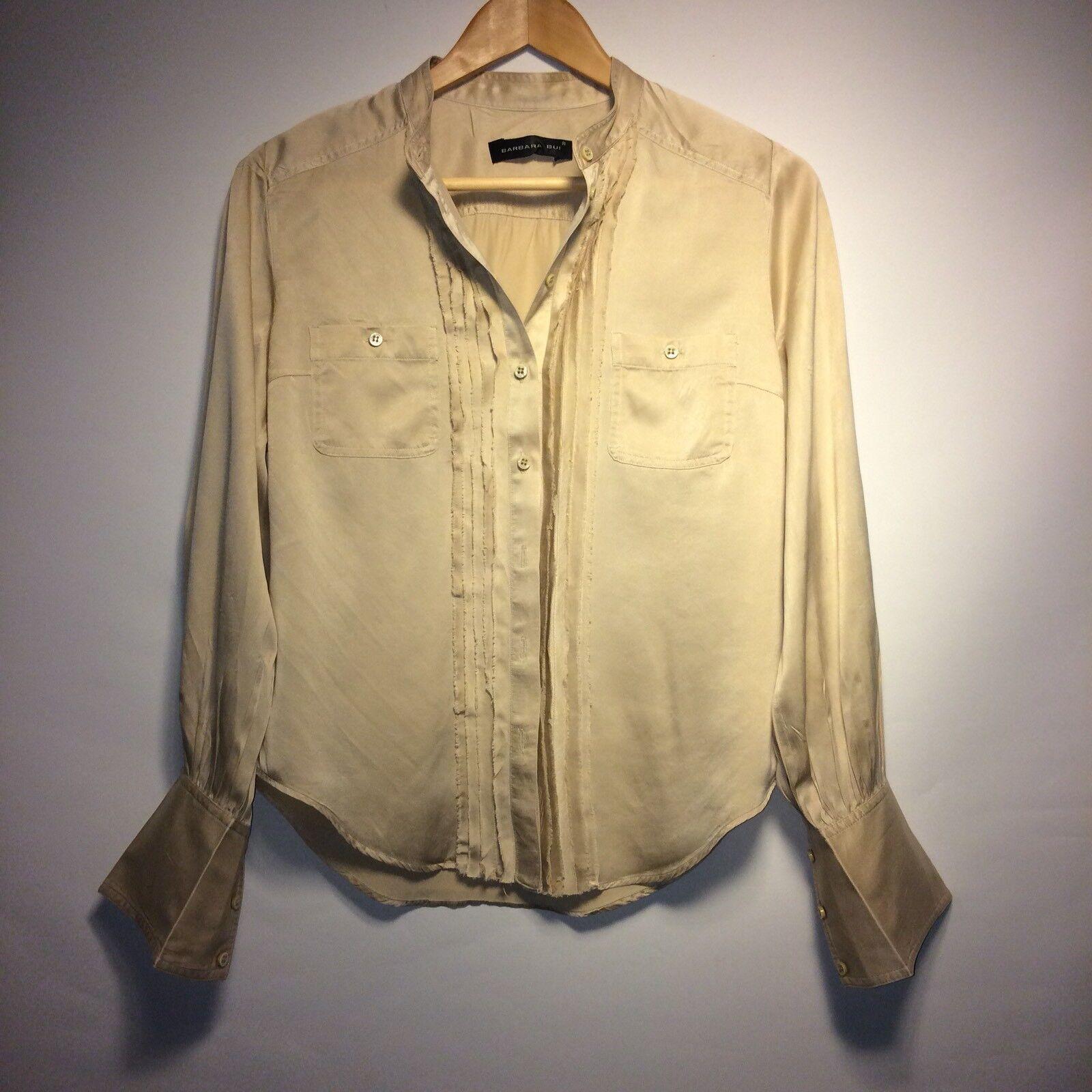 Barbara Bui Luxurious Silk Blouse Shirt Top Long Sleeve Größe 40 XS