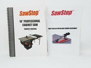 Sawstop-10-034-Professional-Cabinet-Saw-Owner-039-s-Manual-PCS175