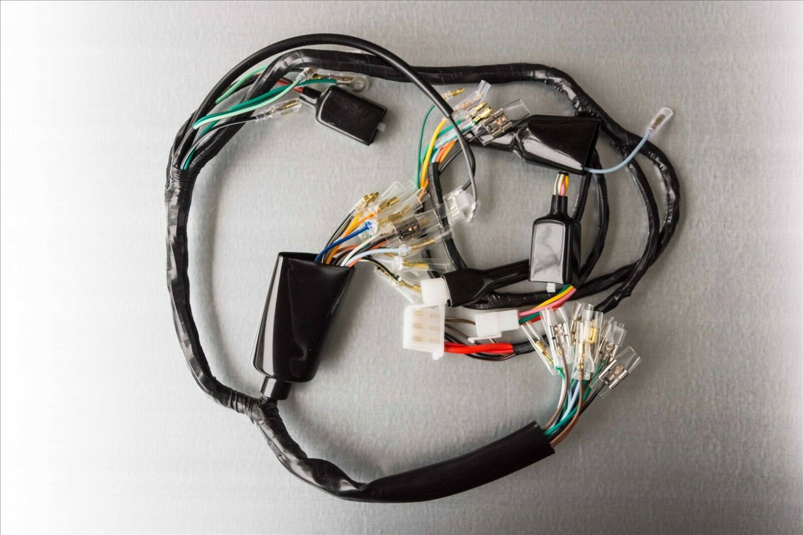75 Honda Cb360 CB 360 OEM Wire Harness Wiring Loom Electrical on amp bypass harness, alpine stereo harness, cable harness, nakamichi harness, oxygen sensor extension harness, maxi-seal harness, radio harness, engine harness, obd0 to obd1 conversion harness, battery harness, dog harness, safety harness, fall protection harness, pet harness, pony harness, electrical harness, suspension harness,