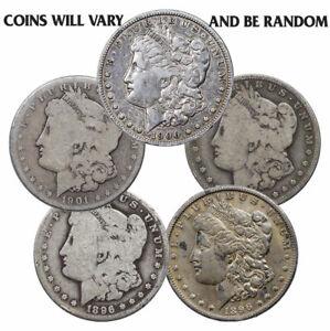 Random Year $1 Cull Morgan Silver Dollars Full Date No Holes 1878-1904