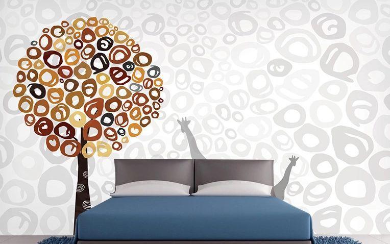 3D Minimalist Circular Tree Paper Wall Print Decal Wall Deco Indoor wall Murals