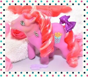 My-Little-Pony-MLP-G1-Vtg-1984-Caramel-Crunch-Popcorn-Candy-Cane-Pony-Curls