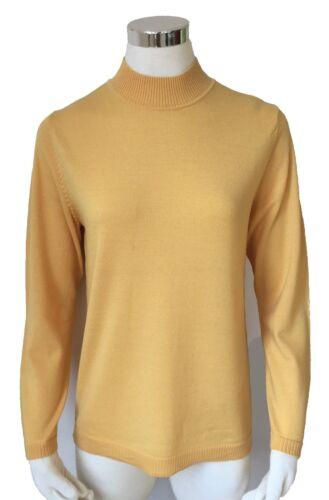 Saldi 46 gr in giallo realizzato di Collo dritto Maglione lana 44 100 Merino da colore donna 70ZqHz