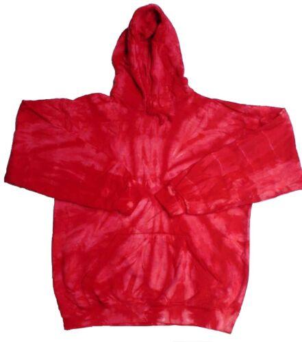M Tie Dye Red Hooded Sweatshirts XL S 3XL 80/% Cotton L Long Sleeve 2XL