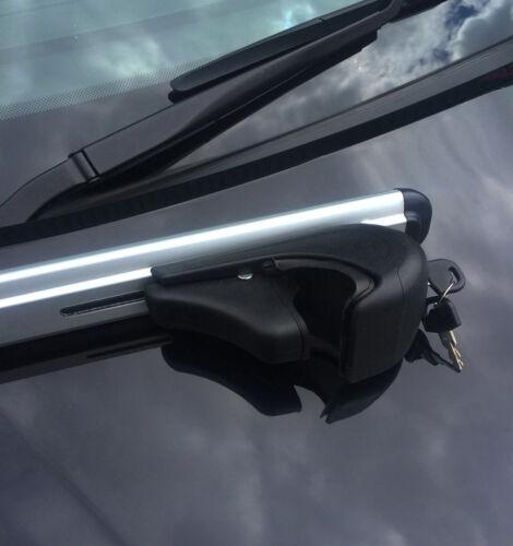 Barras Cruzadas Para Rieles Techo para adaptarse a Volkswagen Tiguan 100 kg Con Cerradura 2007-16