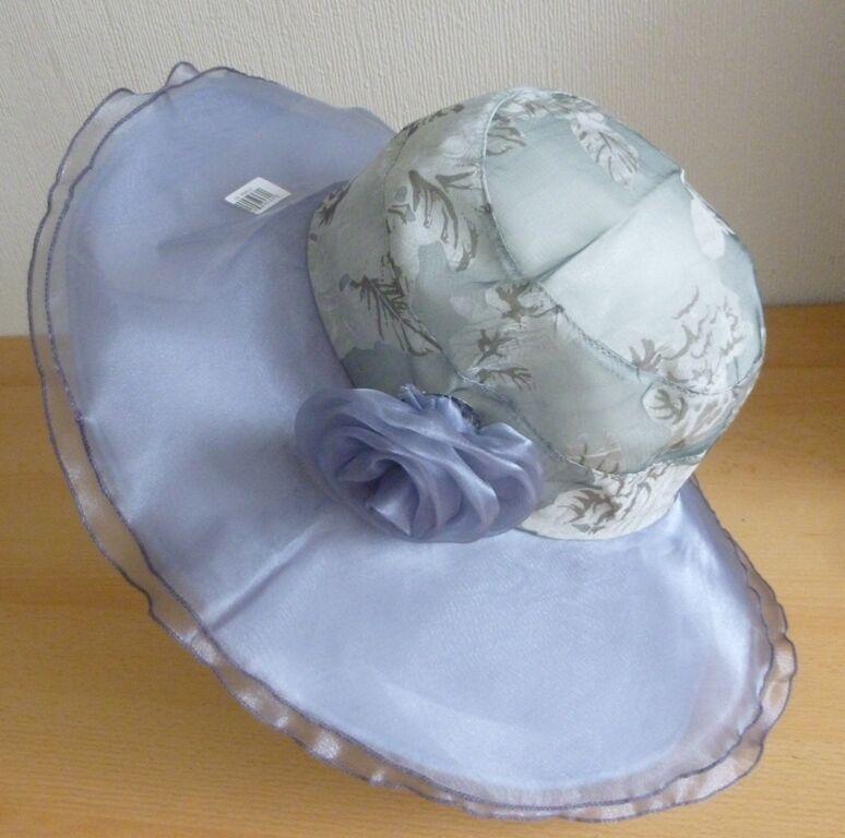 Wedding Hats Sun Hat FORMAL Ascot Derby Races Folding Chiffon Brooch GREY 1