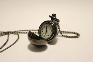 25mm-Bronze-Ball-Pocket-Watch-Necklace-NEW-Antique-Reproduction