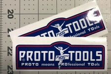 Proto Tools Red White Blue Flying Lady decals of vintage tool box 4 3/4? Set 2