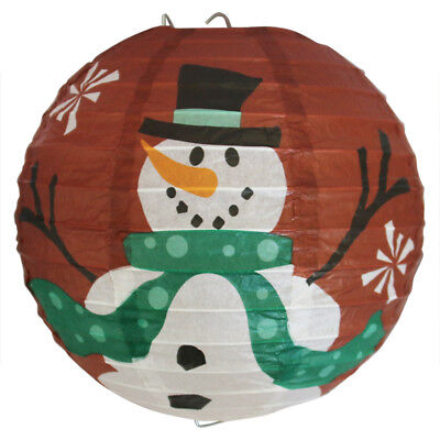 "8/""//20cm Snowman Round Paper Lanterns Lamp Shade Xmas Party Christmas"