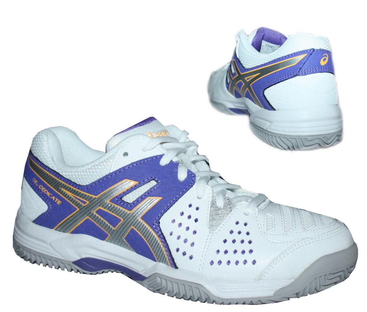 Asics Asics Asics Gel-Dedicate 4 Clay Damen Hallenschuhe Tennisschuhe Sportschuhe weiß 8d946f