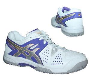 Asics-Gel-Dedicate-4-Clay-Damen-Hallenschuhe-Tennisschuhe-Sportschuhe-weiss